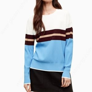 Wilfred Free Aritzia scoop neck striped sweater